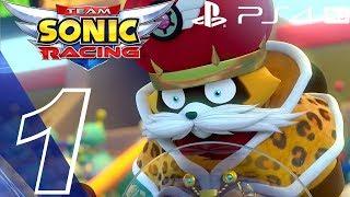 Team Sonic Racing - Gameplay Walkthrough Part 1 - Prologue (Full Game) Story Mode