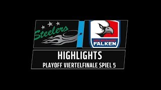 DEL2 Highlights Playoffs Viertelfinale Spiel 5 | Bietigheim Steelers vs. Heilbronner Falken