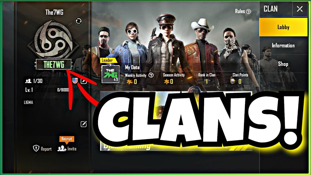 New Clan System In Pubg Mobile