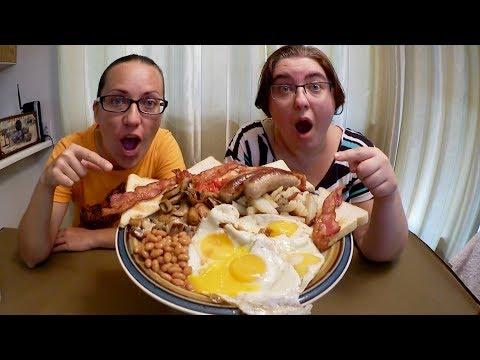 Full English Breakfast Fry Up | Gay Family Mukbang (먹방) - Eating Show