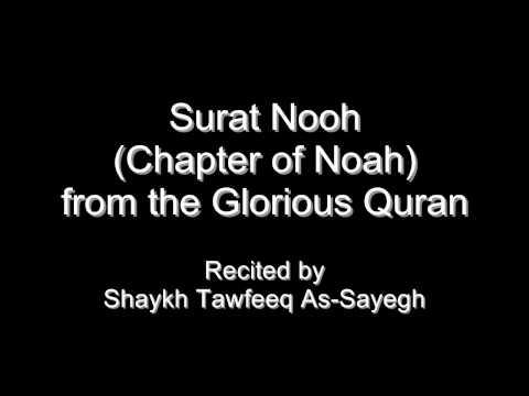 Quran - Surat Nuh (Chapter of Noah) - Shaykh Tawfeeq As-Sayegh