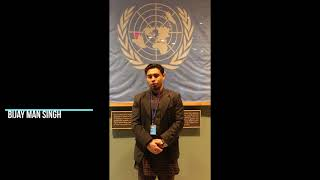 BIJAY MAN SINGH PARTICIPATING  IN UNITED NATION NEW YORK( UNPFII17- 04/16-04/20/2018)