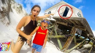 Finding SECRET HIDDEN HOUSE On Abandoned Beach! (WHAT'S INSIDE?)