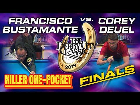 ONE-POCKET FINALS:  Francisco BUSTAMANTE vs. Corey DEUEL: 2019 DERBY CITY CLASSIC One-Pocket