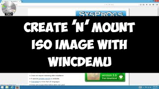 Create and mount ISO image file with WinCDEmu