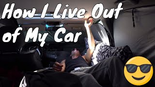 How I Live Out of My Car | 2011 Honda Accord