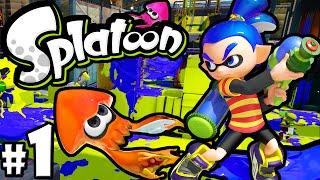 Splatoon Wii U PART 1 Online Gameplay Walkthrough New Shooter Nintendo HD 60fps How to Play Turf War