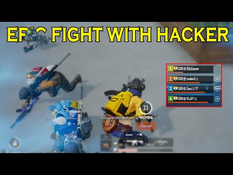 Epic Fight With Hacker On PUBGMOBILE