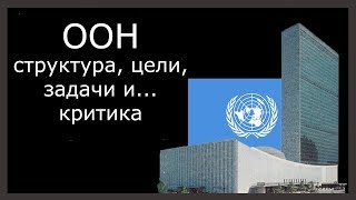 ООН - структура, цели, задачи и...критика