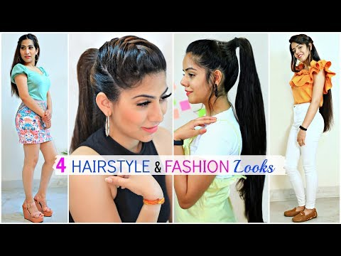 4 Easy HAIRSTYLE & FASHION Looks For Teenage/College Girls | #Partylook #Beauty #Anaysa thumbnail