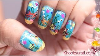 Aquarium Nail Art Design By Khoobsurati.com
