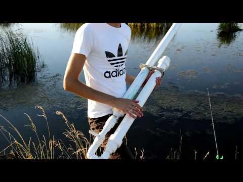 Ролик Пушка для Рыбалки Стреляем кормушкой-кормаком, пружиной