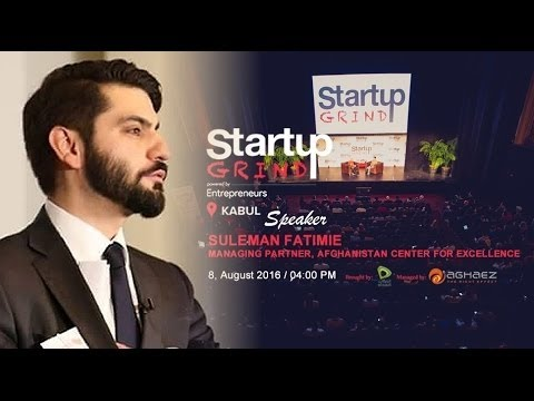 Suleman Fatimie at Startup Grind Kabul - Afghanistan