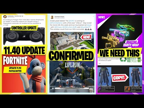 *NEW* Fortnite Redcross EVENT CONFIRMED! *Pax Event*, Controller Update, 11.40 Date, Reactive Wrap!
