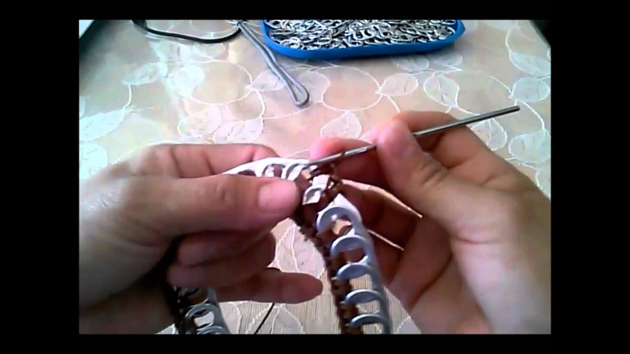 como hacer asas para bolsa con fichas