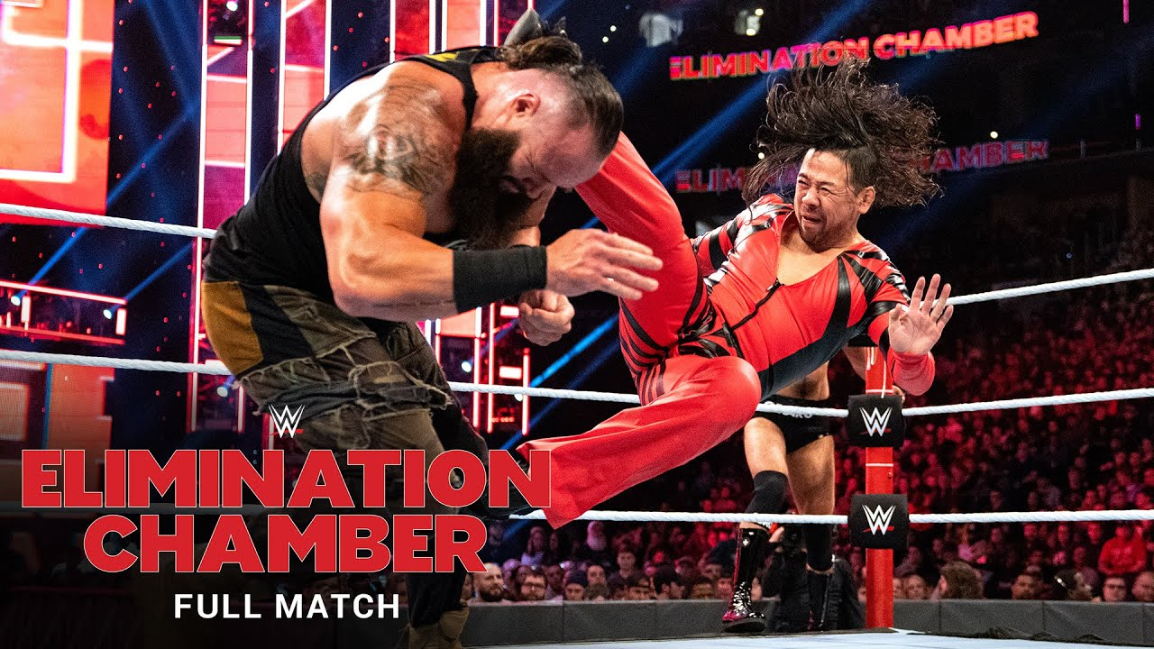 FULL MATCH - Braun Strowman vs. Sami Zayn, Shinsuke Nakamura & Cesaro: Elimination Chamber 2020