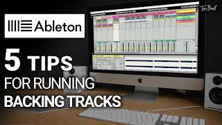 5 TIPS for ruฑning Backing Tracks live | Ableton Live