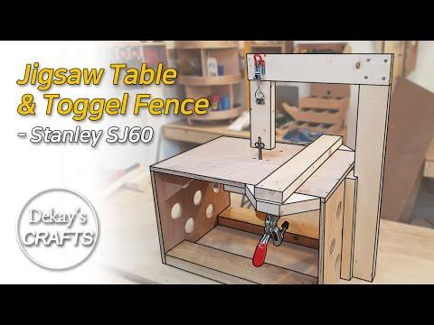 미니 테이블쏘 토글 펜스 만들기 : 스탠리 SJ60 [목공 DIY] │Mini Table Saw & Toggle Fence With SJ60 Jigsaw [woodworks]
