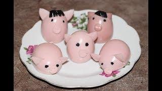 Поросята из яиц. Новогодняя закуска | piglets from eggs