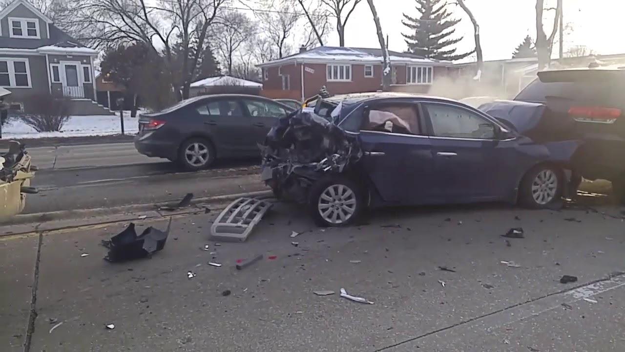 Multi-Vehicle Accident, Burbank, Il, Feb  19, 2019