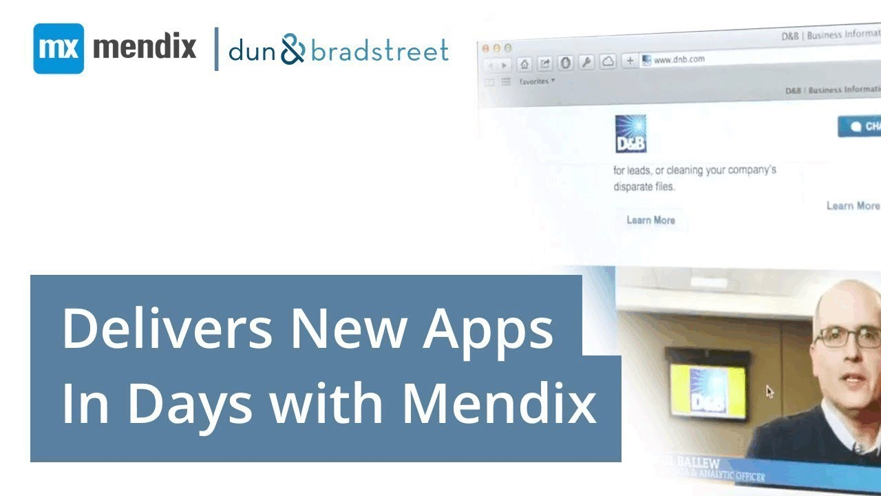 Testimonial dun bradstreet delivers new apps in days for Donald bradstreet