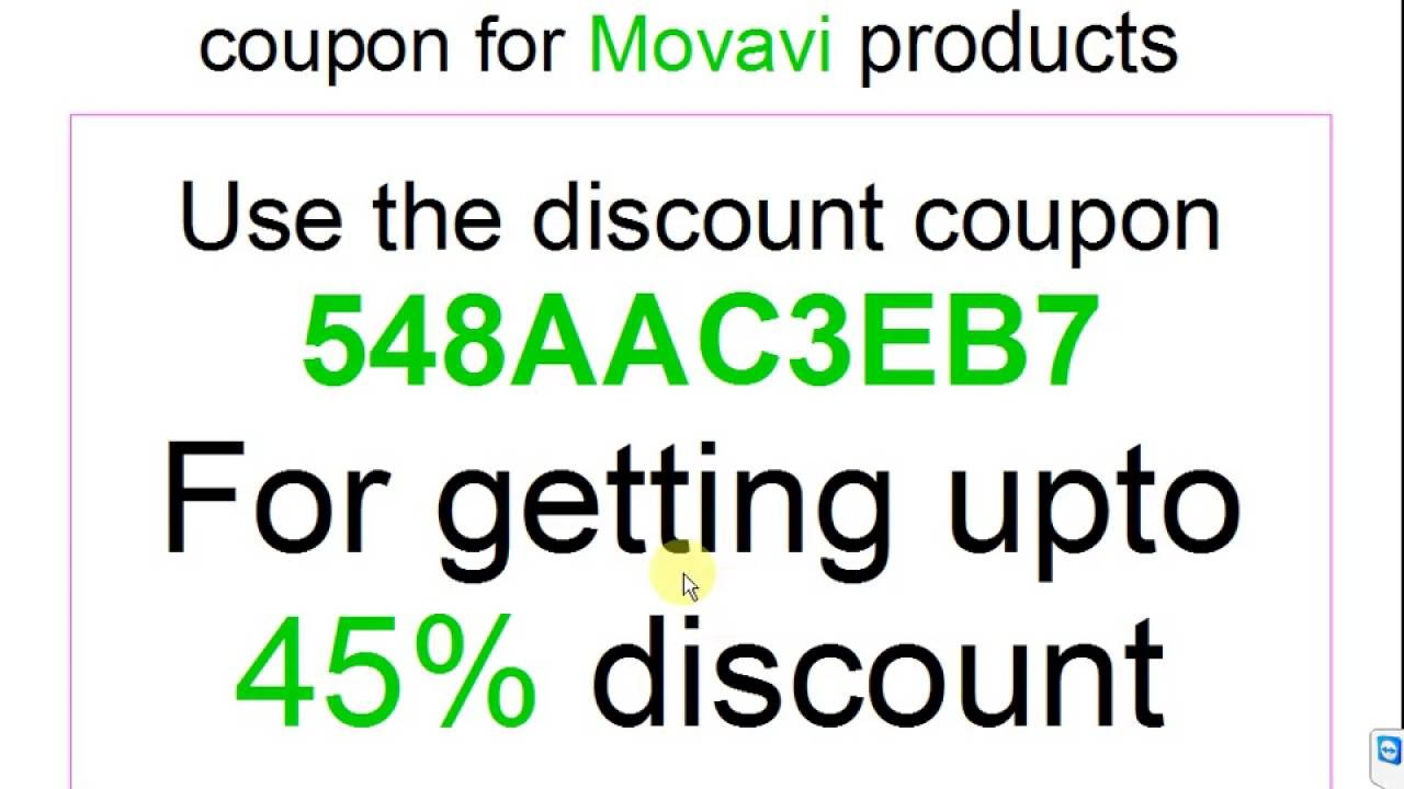 Movavi discount coupon code