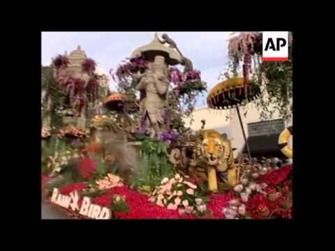 Rose Parade spectacle in Pasadena