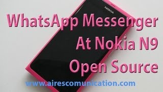 WhatsApp messenger install in nokia N9