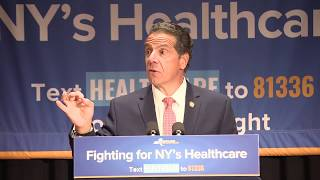 Governor Cuomo Makes An Announcement At Mt. Sinai Hospital