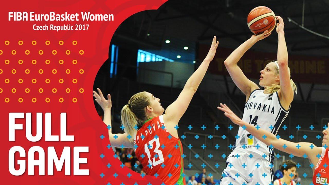 Slovak Republic v Belarus - Full Game - FIBA EuroBasket Women 2017