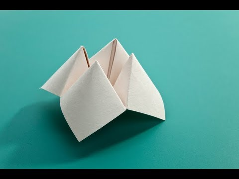 How to make a simple fortune teller / Paper Fortune Teller (2018)