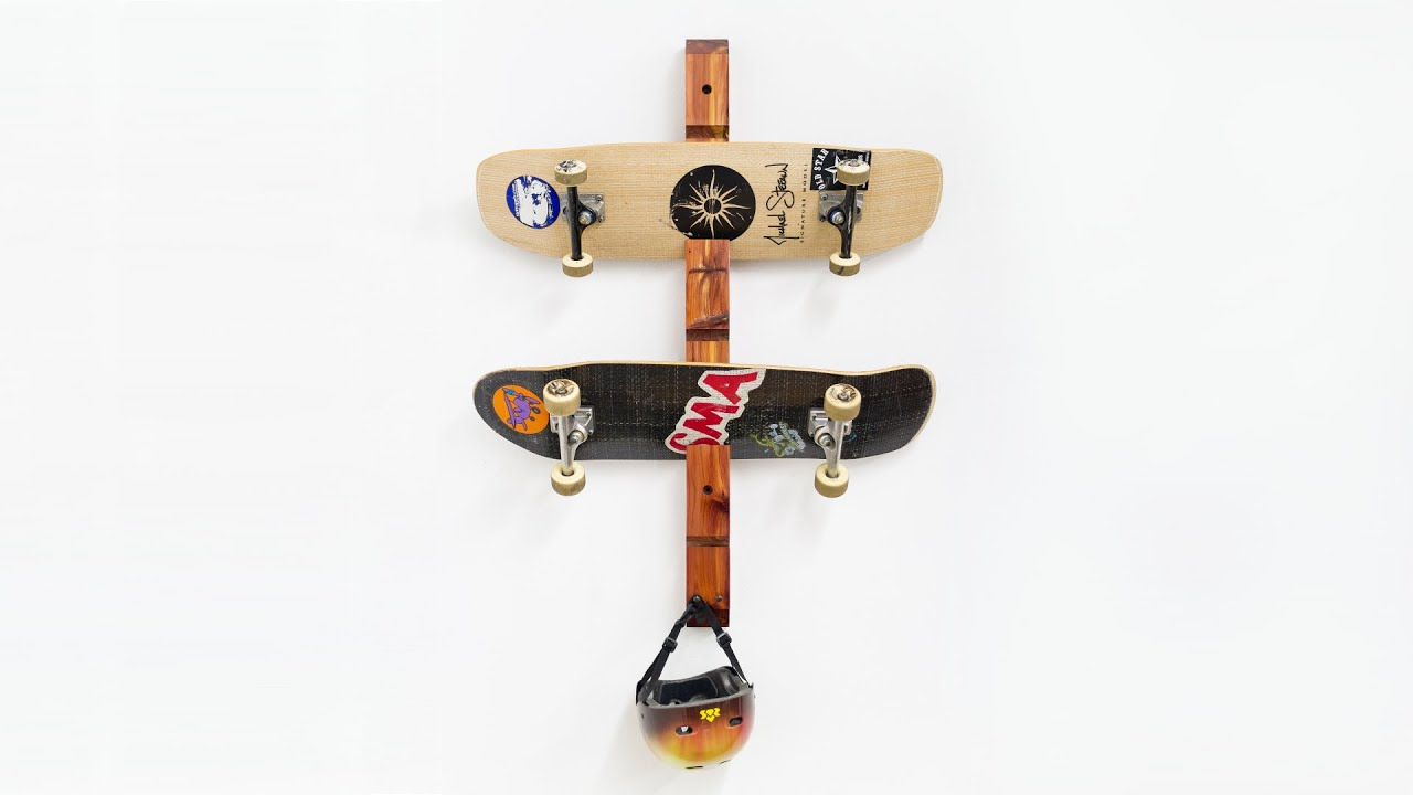 Build a Simple Skateboard Rack - YouTube