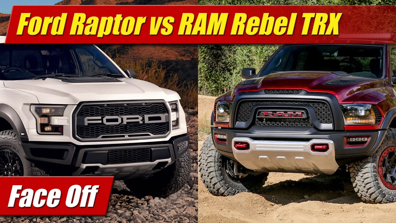 face off 2017 ford raptor vs ram 1500 rebel trx doovi. Black Bedroom Furniture Sets. Home Design Ideas