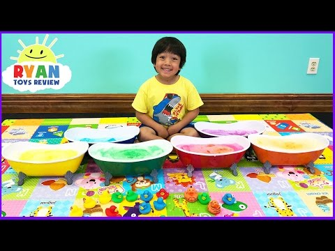 Thumbnail: Learn Colors with Surprise Toys Bath Bombs for Kids! Teach Colours for Children Toddlers and Babies