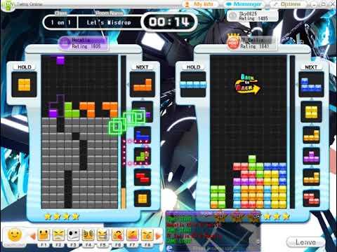 【Tetris】Tetris Online : 1 on 1 record (an hour) (12/20)