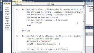 Visual Basic 2010 HangMan