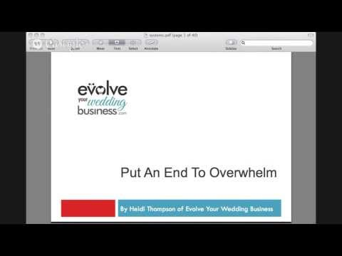 Put An End To Overwhelm In Your Wedding Business