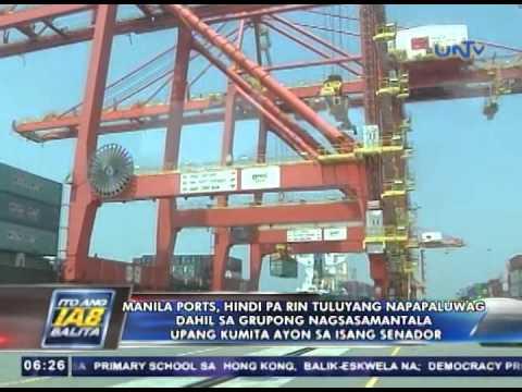 Manila ports, hindi pa rin tuluyang napapaluwag dahil sa grupong nagsasamantala — Sen. Aquino