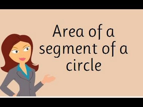 area of a segment of a circle pdf