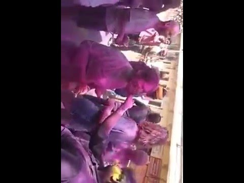 Foreigners Playing Holi in India