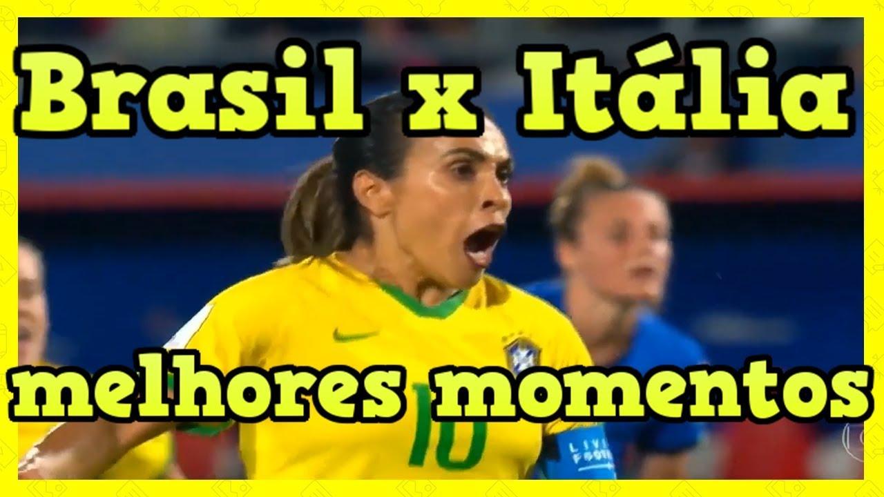 Brasil X Itália Futebol Feminino 18 06 2019 Marta Faz Um