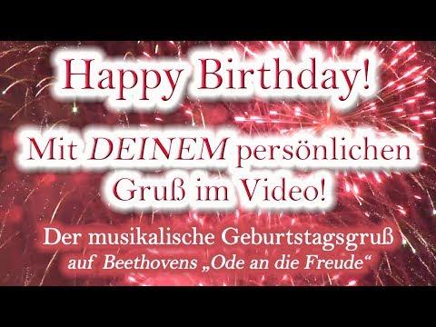 Happy Birthday, liebe/r... ! Verschenke ein personalisiertes Geburtstagslied mit Widmung im Video