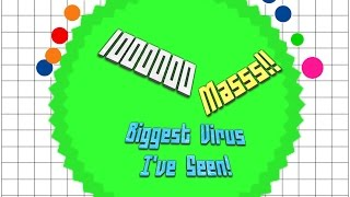 Agar.io Solo 1000000 Mass (1 Million!) Ep 11