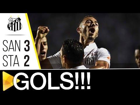 Santos 3 x 2 Santa Cruz | GOLS | Brasileirão 2016 (18/09/16)