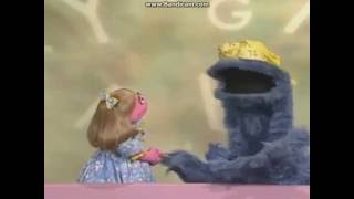 sesame street cookie monster letter of the day p
