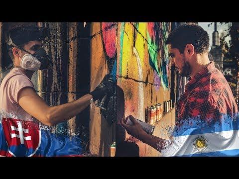 Graffiti SLOVAKIA vs Street Art ARGENTINA