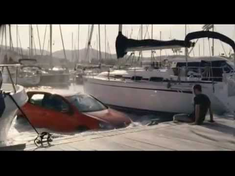 Funny Volkswagen Golf Wish TV Commercial Ad Man Takes Coin From Wishing Well And Boat Turns Into Car
