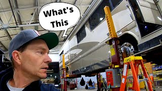 What will I find inspecting the underside of my 96 Country Coach Intrigue?