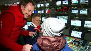 Backstage im ORF Ü-Wagen in Kitzbühel beim Ski - Weltcup