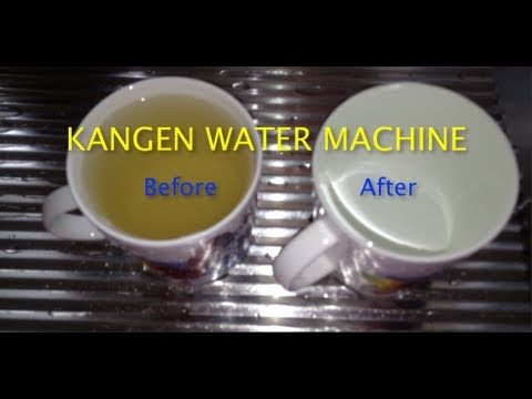 Kangen Water Machine used in Brunei Darussalam, See water Before and After Filter